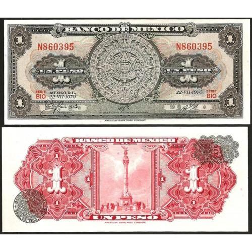 MEXICO 1 Peso 1970 Serie BIO