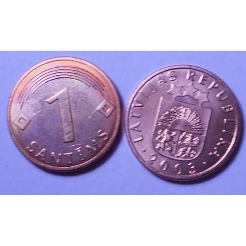 LATVIA 1 Santims 2003