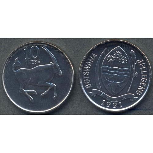 BOTSWANA 10 Thebe 1991