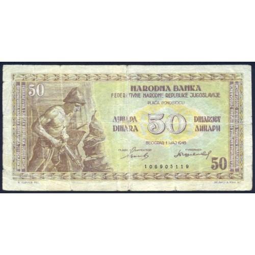 YUGOSLAVIA 50 Dinara 1946