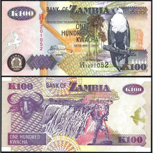 ZAMBIA 100 Kwacha 2005