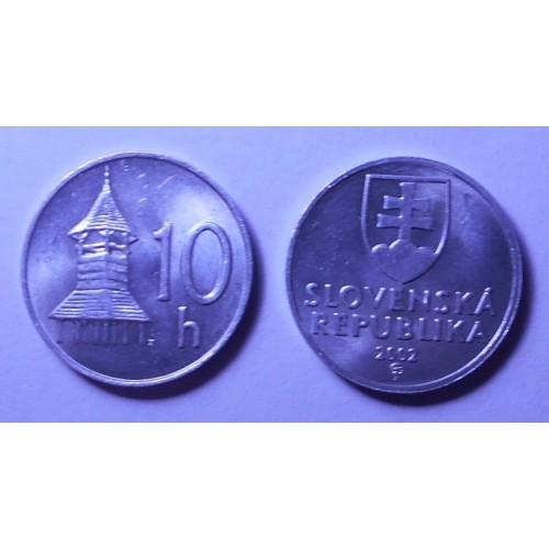SLOVAKIA 10 Halierov 2002