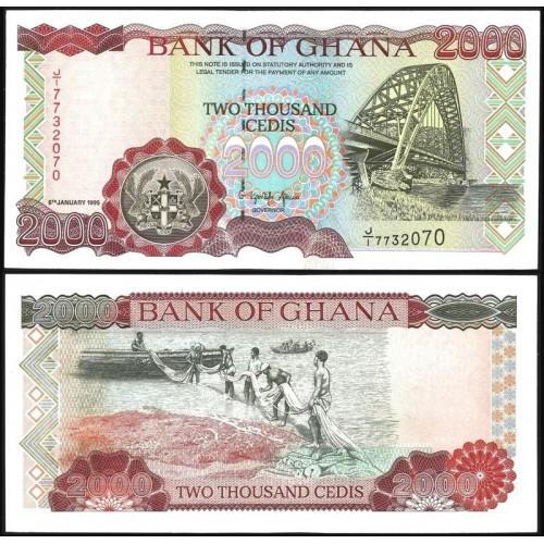 GHANA 2000 Cedis 1995