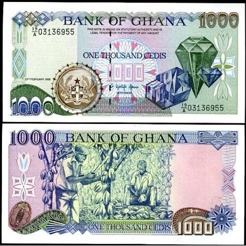 GHANA 1000 Cedis 1996