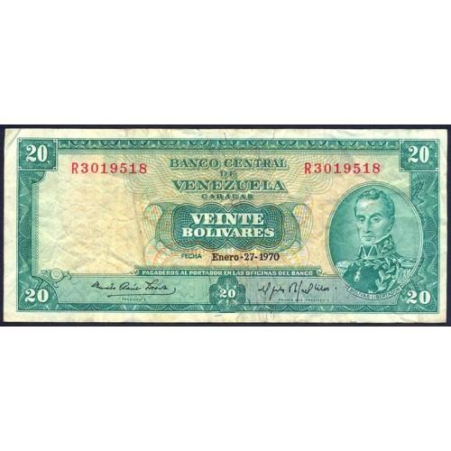 VENEZUELA 20 Bolivares 1970