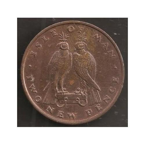 ISLE OF MAN 2 Pence 1975