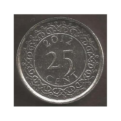 SURINAME 25 Cents 2012