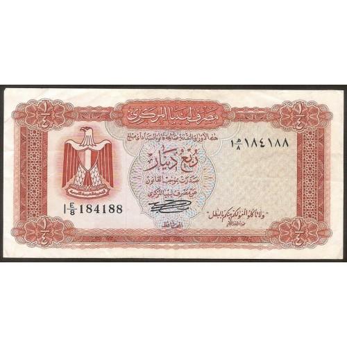 LIBYA 1/4 Dinar 1972