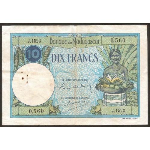 MADAGASCAR 10 Francs 1937