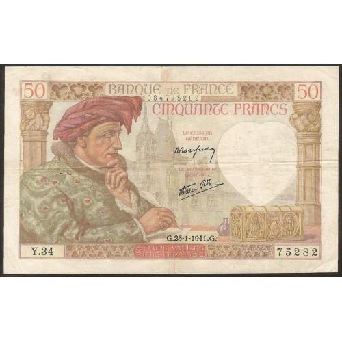 FRANCE 50 Francs 23.01.1941