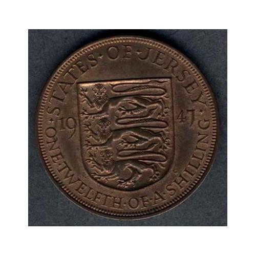 JERSEY 1/12 Shilling 1947