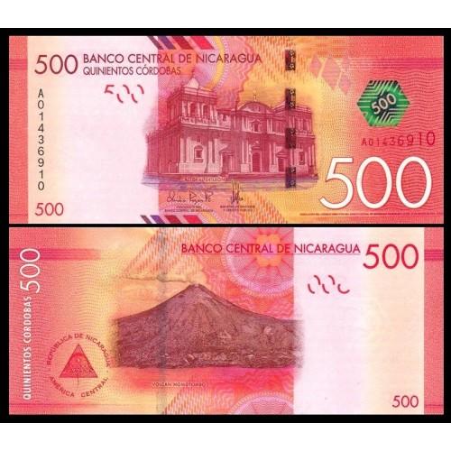 NICARAGUA 500 Cordobas 2014...