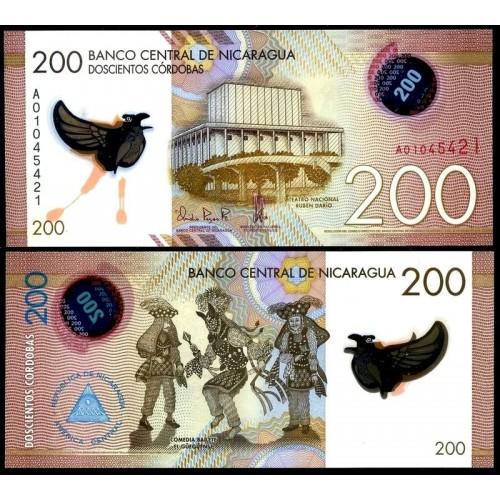 NICARAGUA 200 Cordobas 2014...
