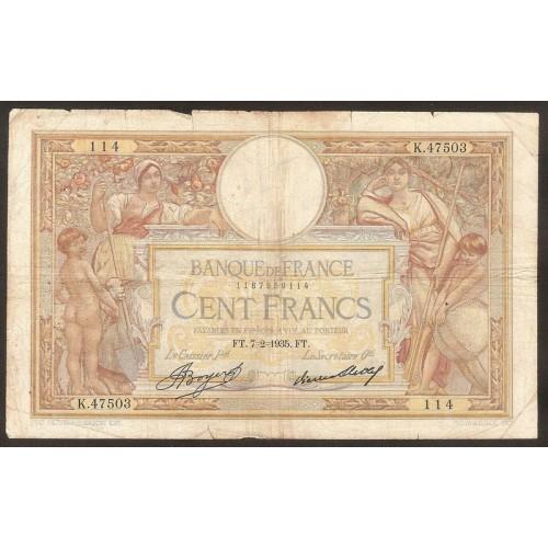 FRANCE 100 Francs 07.02.1935