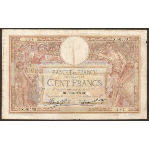 FRANCE 100 Francs 18.05.1933