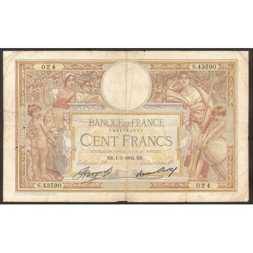 FRANCE 100 Francs 01.03.1934