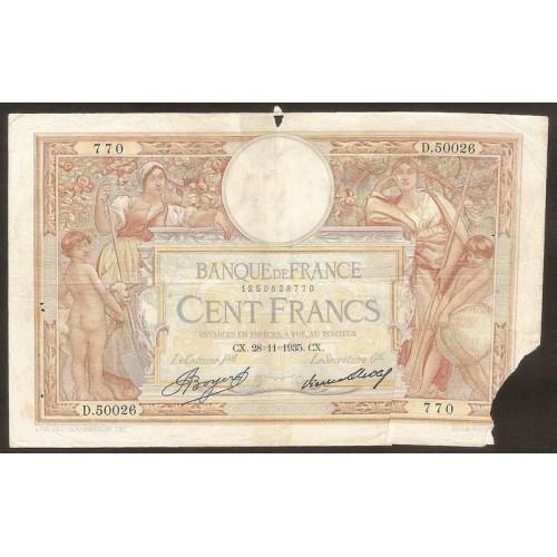 FRANCE 100 Francs 28.11.1935