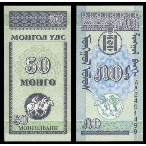 MONGOLIA 50 Mongo 1993