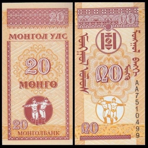 MONGOLIA 20 Mongo 1993