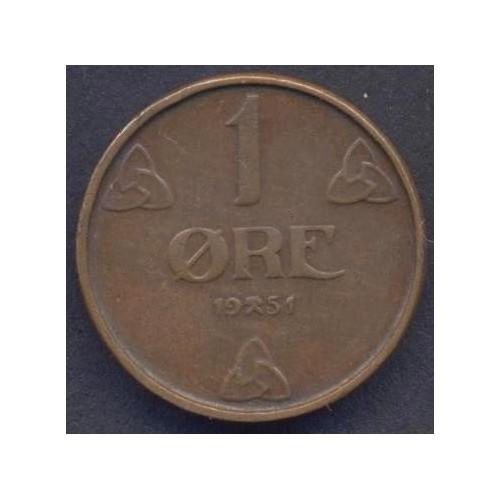 NORWAY 1 Ore 1951