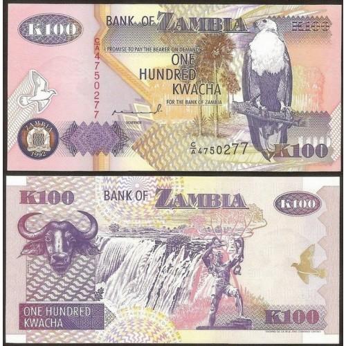 ZAMBIA 100 Kwacha 1992