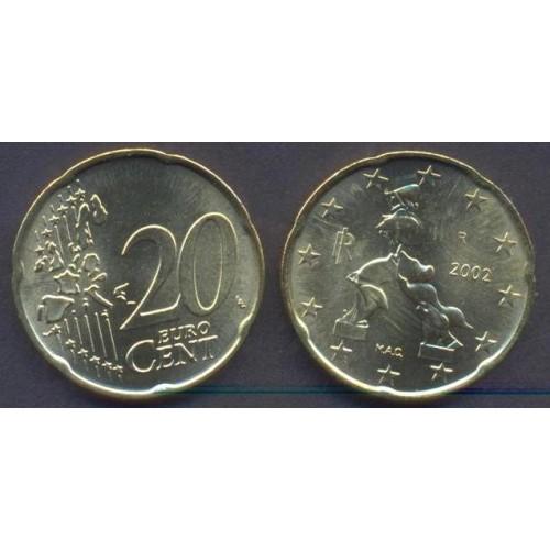 ITALIA 20 Euro Cent 2002