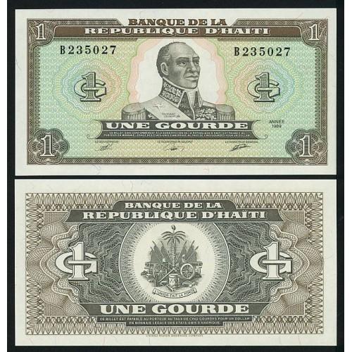 HAITI 1 Gourde 1989