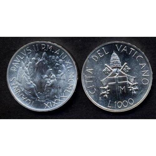 VATICANO 1000 Lire 1989 AG