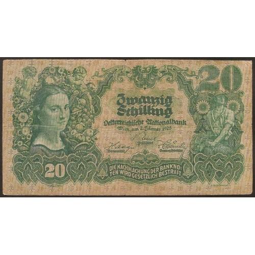 AUSTRIA 20 Schilling 1928
