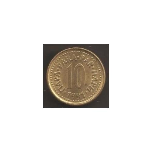 YUGOSLAVIA 10 Para 1991