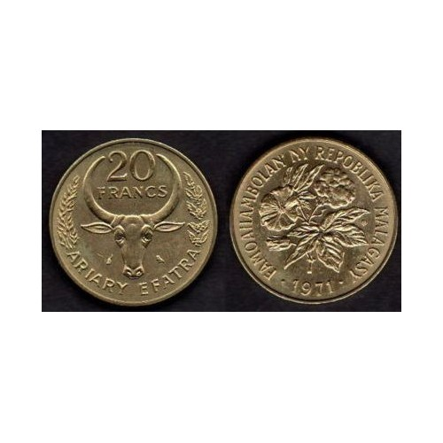 MADAGASCAR 20 Francs 1971 FAO