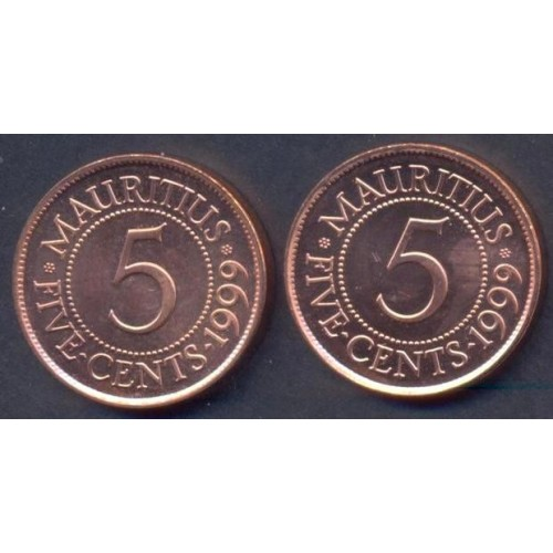 MAURITIUS 5 Cents 1999