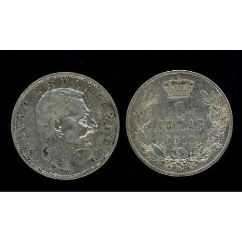 SERBIA 1 Dinar 1912 AG