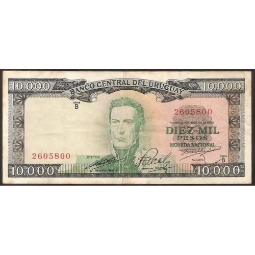 URUGUAY 10.000 Pesos 1967