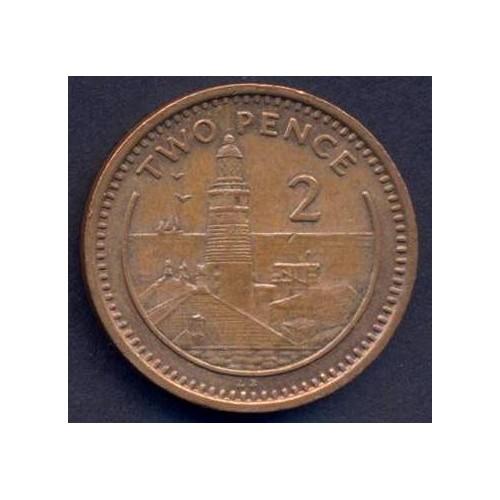 GIBRALTAR 2 Pence 1989 AB