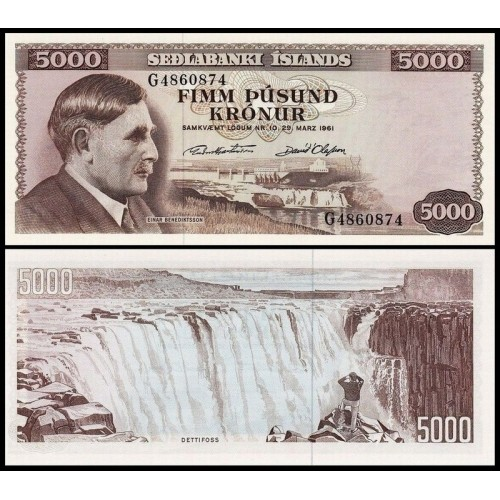 ICELAND 5000 Kronur L....