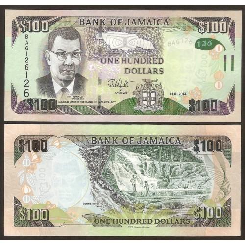 JAMAICA 100 Dollars 2014...