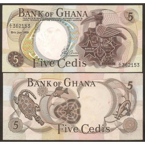 GHANA 5 Cedis 1969