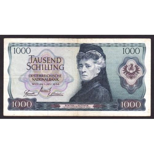 AUSTRIA 1000 Schilling 1966
