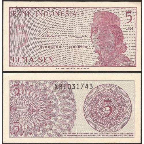 INDONESIA 5 Sen 1964...