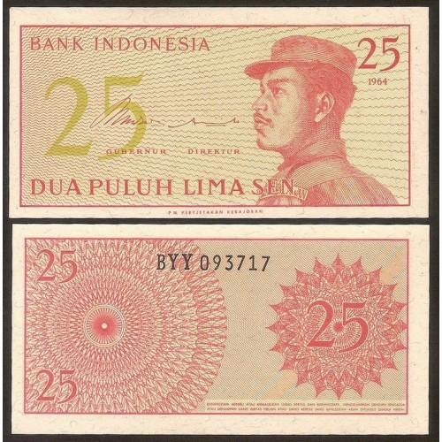 INDONESIA 25 Sen 1964