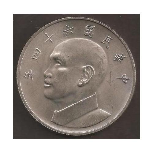TAIWAN 5 Yuan 1975