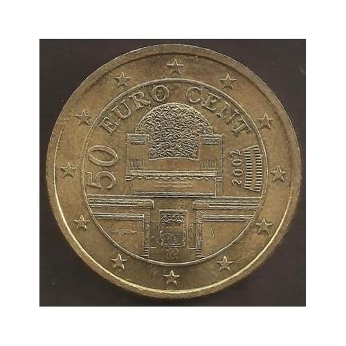 AUSTRIA 50 Euro Cent 2002