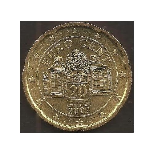 AUSTRIA 20 Euro Cent 2002
