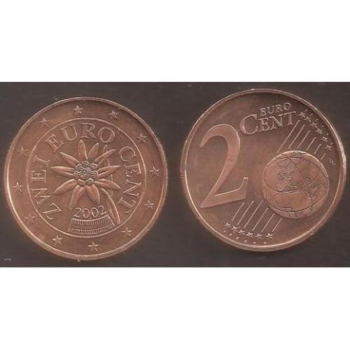 AUSTRIA 2 Euro Cent 2002