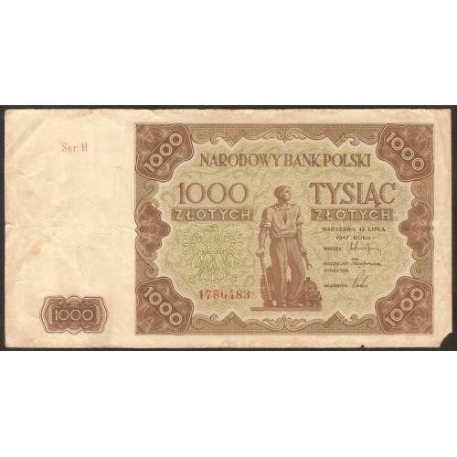 POLAND 1000 Zlotych 1947