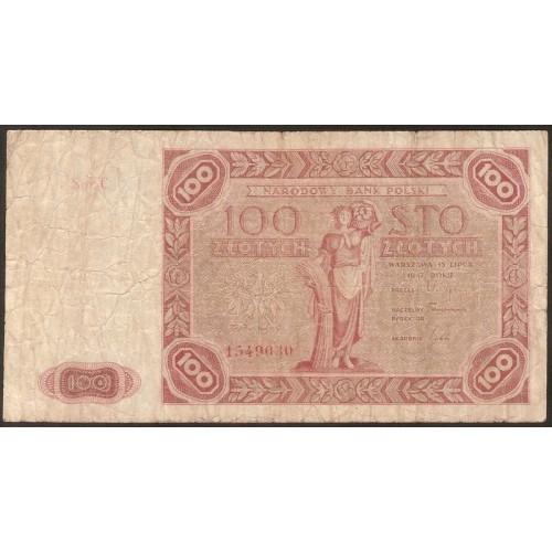 POLAND 100 Zlotych 1947