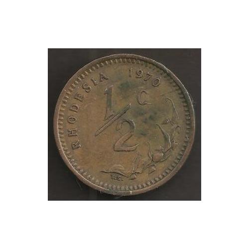 RHODESIA 1/2 Cent 1970