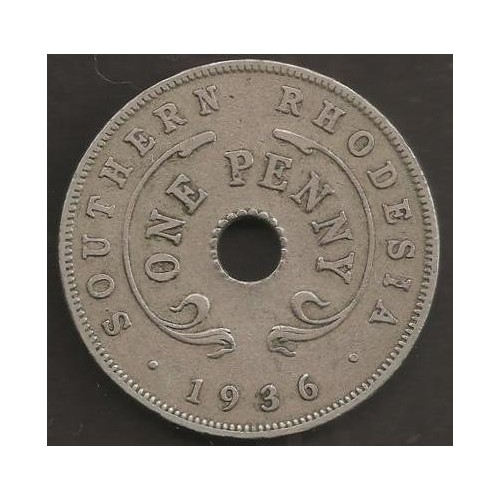 SOUTHERN RHODESIA 1 Penny 1936
