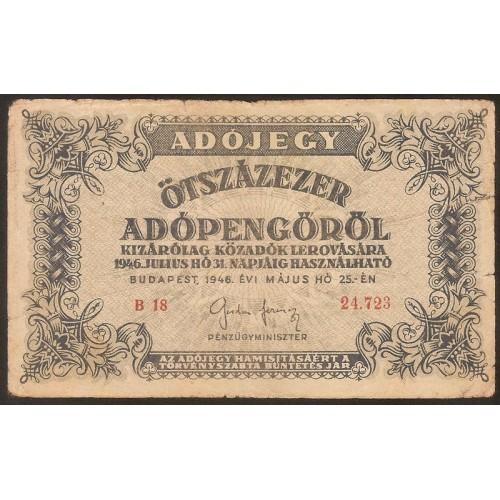 HUNGARY 500.000 Adopengo 1946